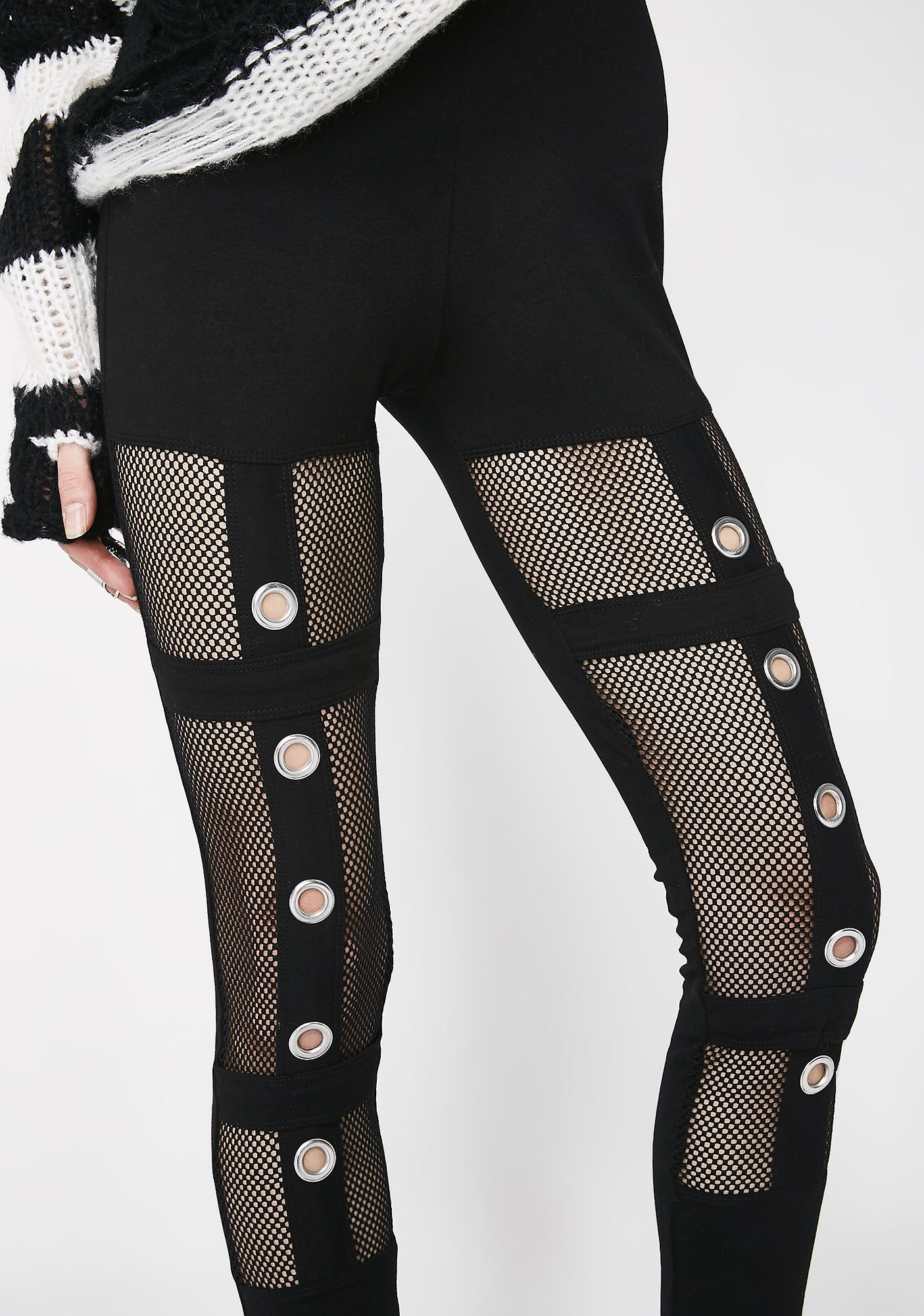 Tripp NYC Mesh Grommet Leggings