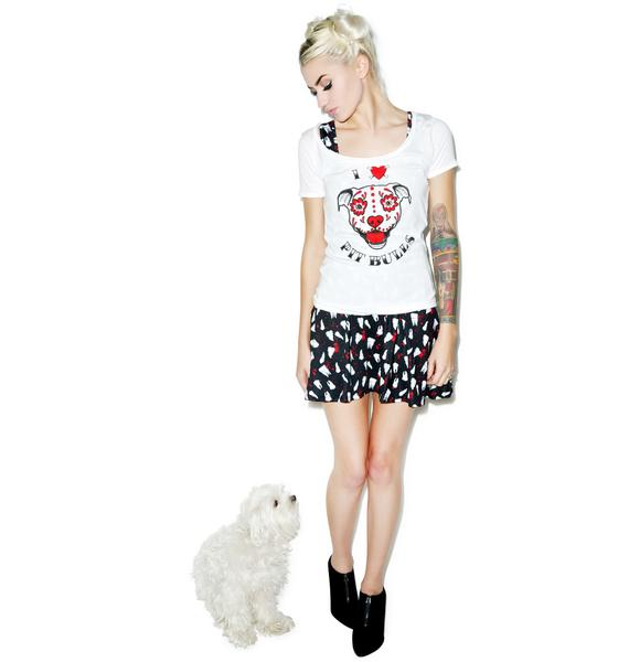 Sourpuss Clothing I Heart Pit Bulls Tee