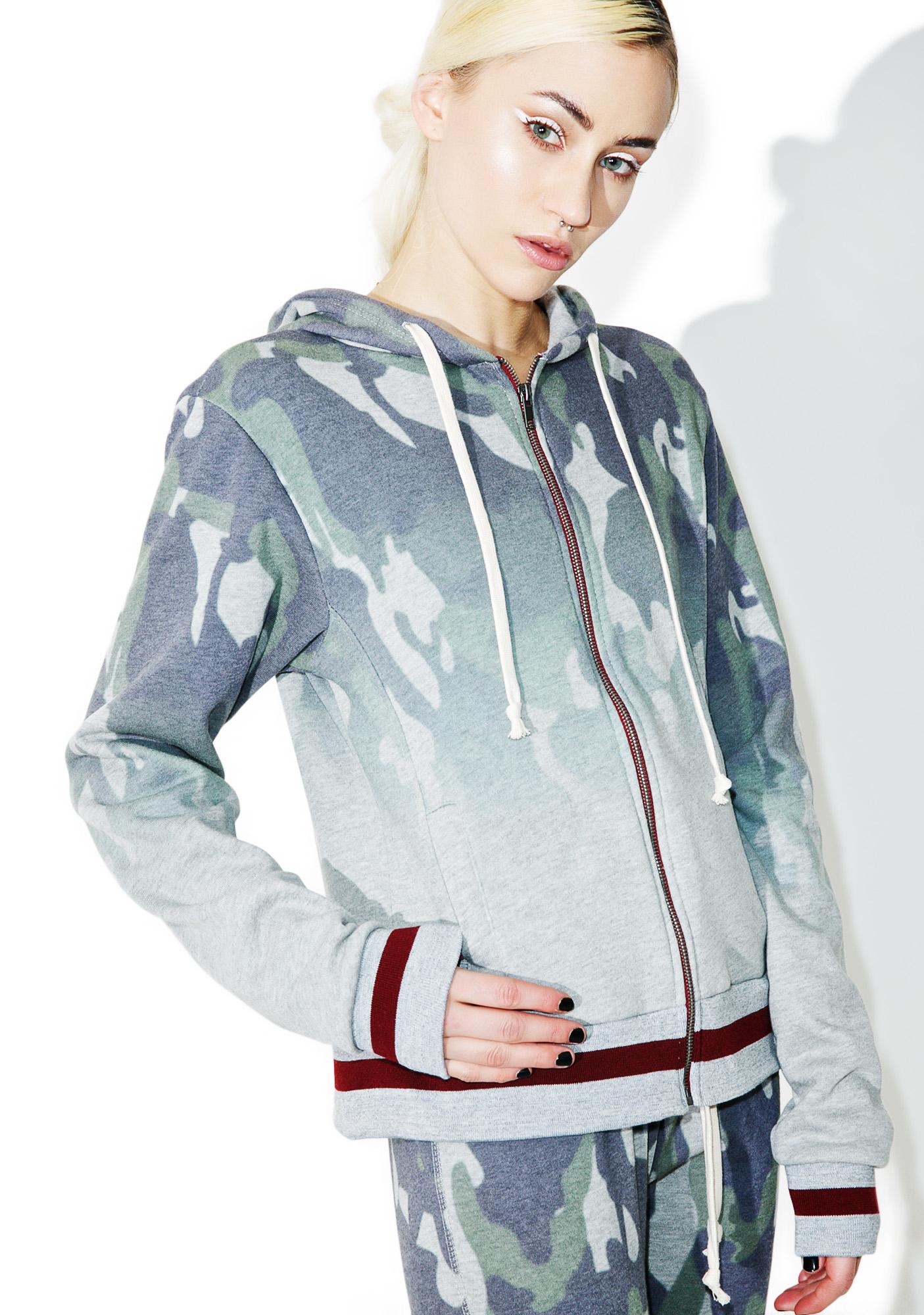 Women's Camoflauge Hooded Sweatshirt