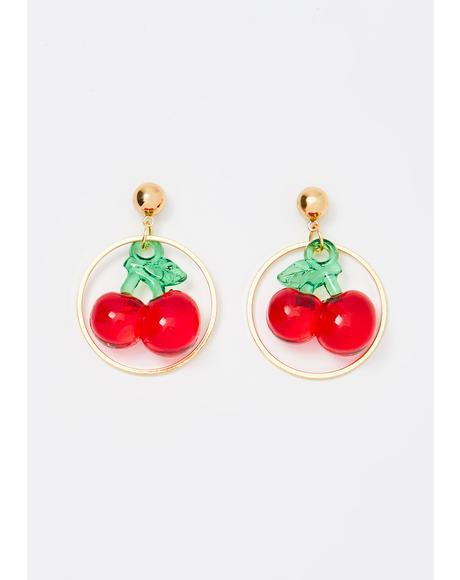 Sweet Secret Cherry Earrings