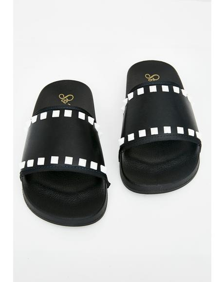 Hellblazer Studded Slides