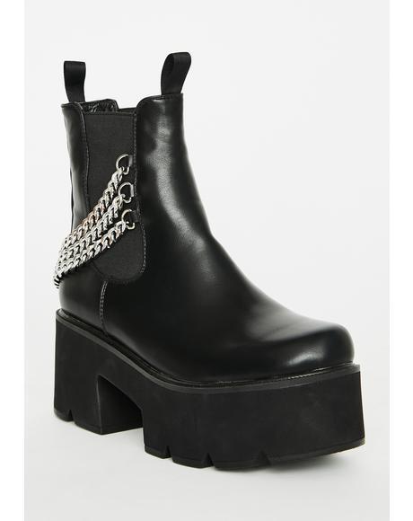 Black Out Platform Boots
