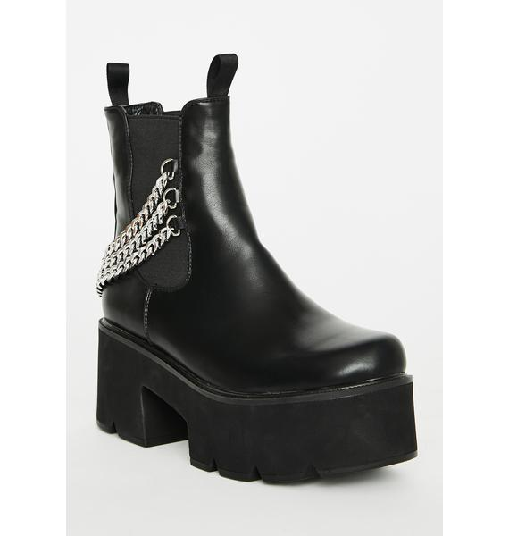 Lamoda Black Out Platform Boots