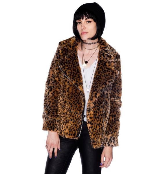 UNIF Donna Leopard Coat