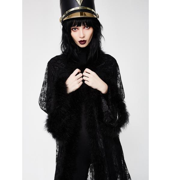 Kiki Riki Dark Queen Lace Robe