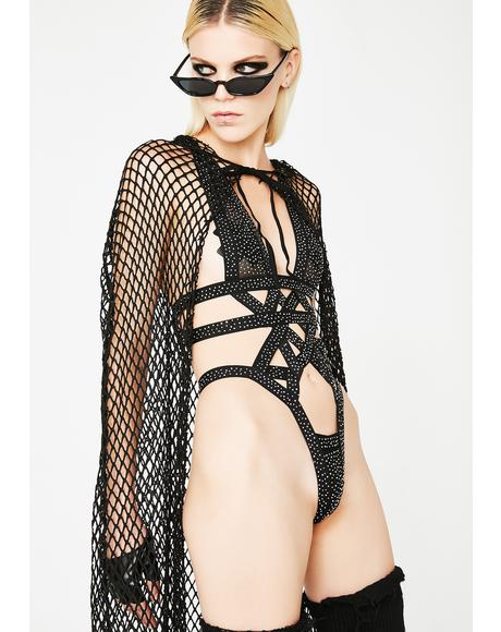 Glam Warrior Strappy Bodysuit