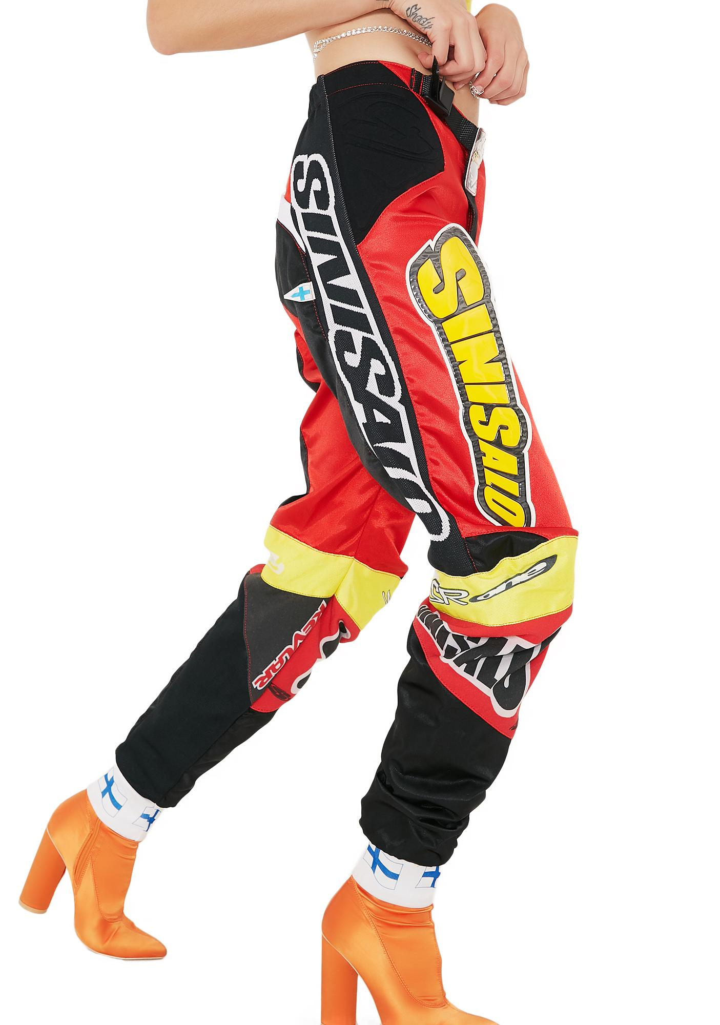 cae1c2064a Vintage Red Racing Pants | Dolls Kill