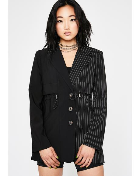 Second Interview Pinstripe Blazer