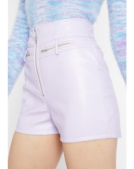 Purp Group Chat High Waist Shorts