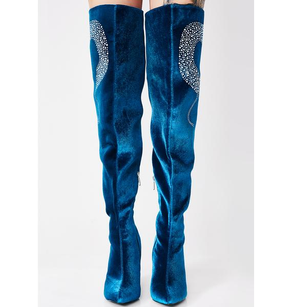 Cosmic Goddess Thigh High Boots