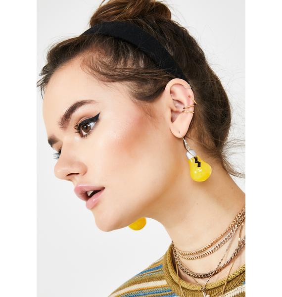 Bright Idea Light Bulb Earrings