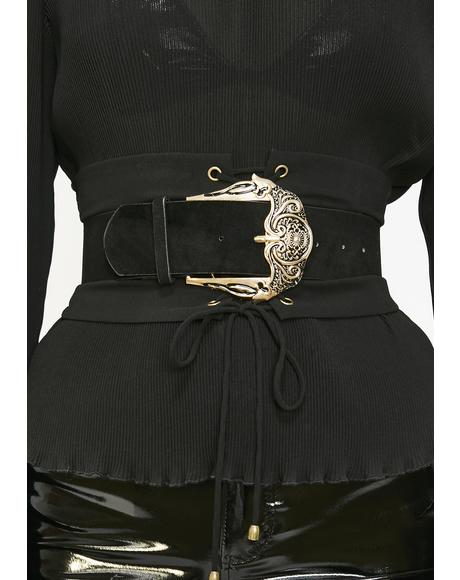 Naughty Nouveau Suede Belt