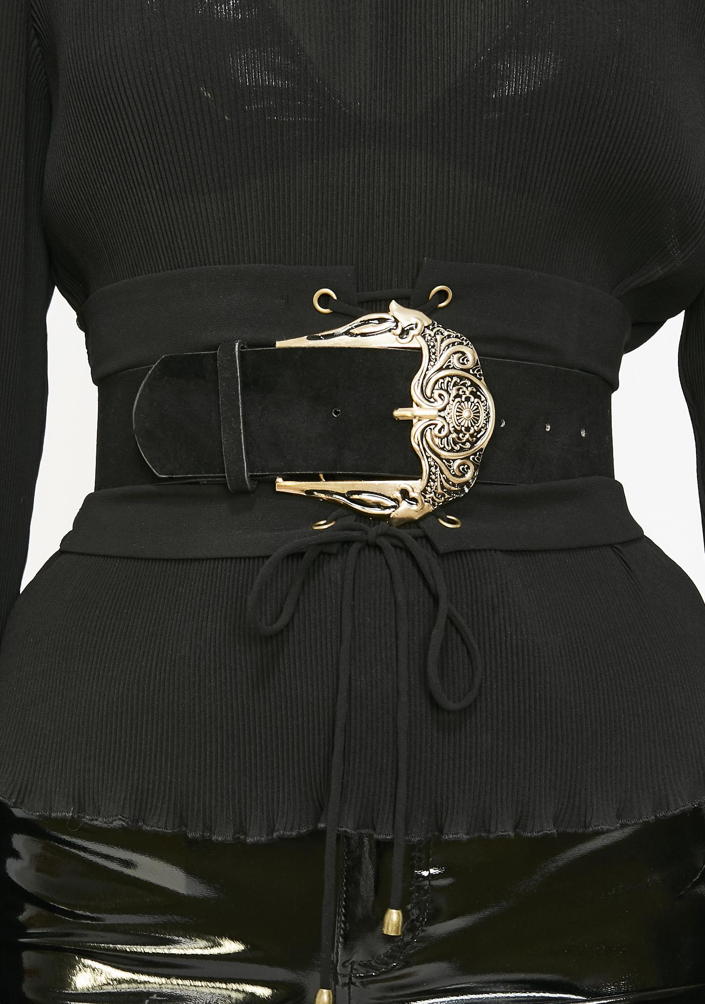 Naughty Nouveau Suede Belt by