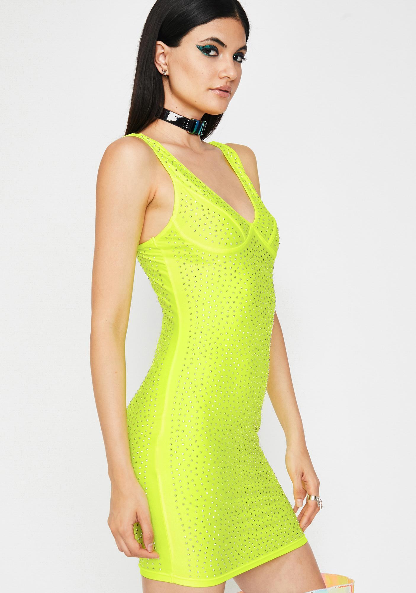 Galactic Glare Rhinestone Dress