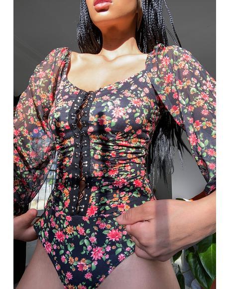 Find My Love Floral Bodysuit