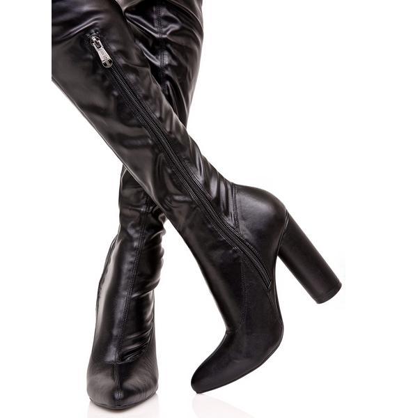Fast Lane Thigh High Boot
