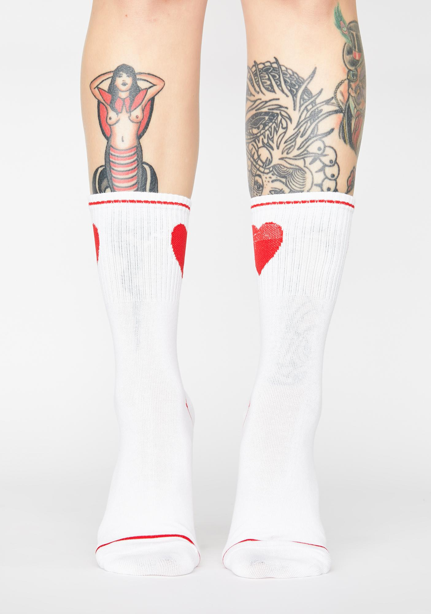 Show Me Your Heart Crew Socks
