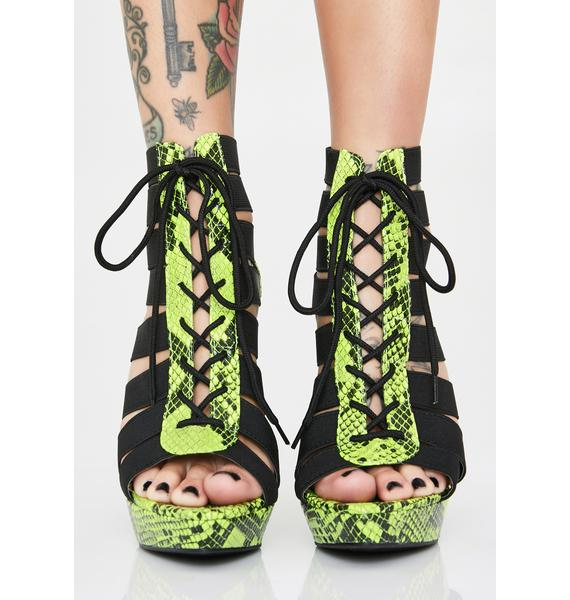 Lime Wild Mood Cut-Out Heels