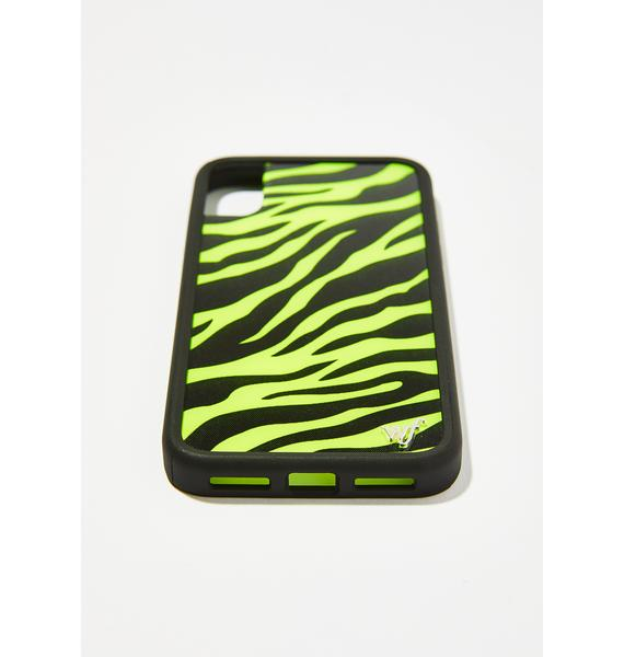 Wildflower Neon Zebra iPhone Case
