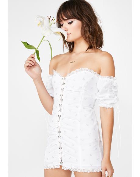 Icy Magnolia Mini Dress