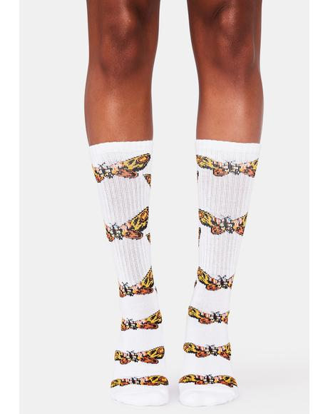 Moth Crew Socks