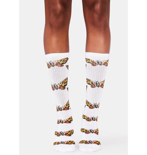 HUF Moth Crew Socks