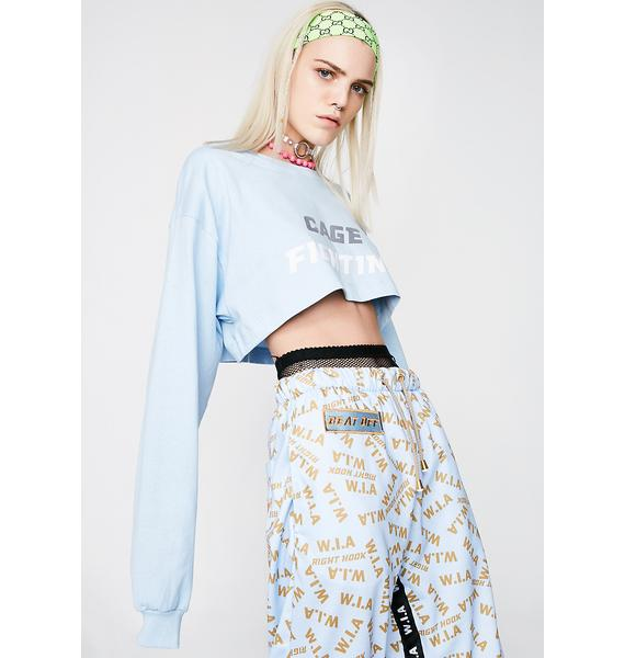 W.I.A Cage Long Sleeve Crop Top