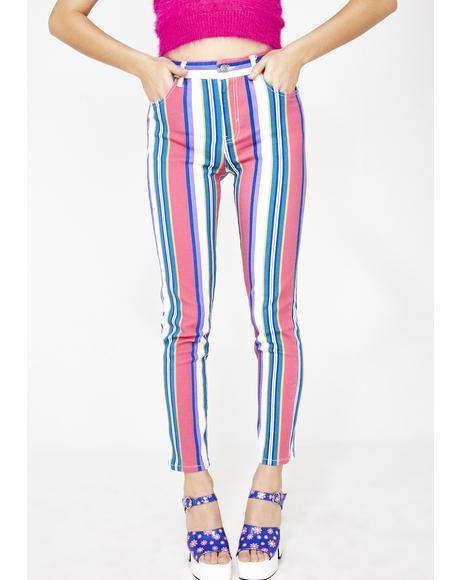 Pump Up The Jam Striped Jeans