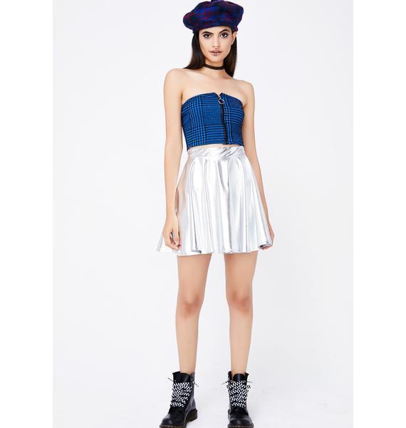 Space Rain Dance Skater Skirt