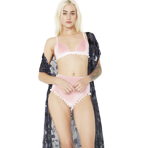 Her Pony Pastel Pom Pom Velvet Set