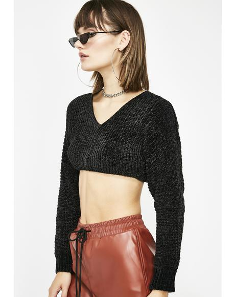 Dark Desert Nightz Crop Sweater