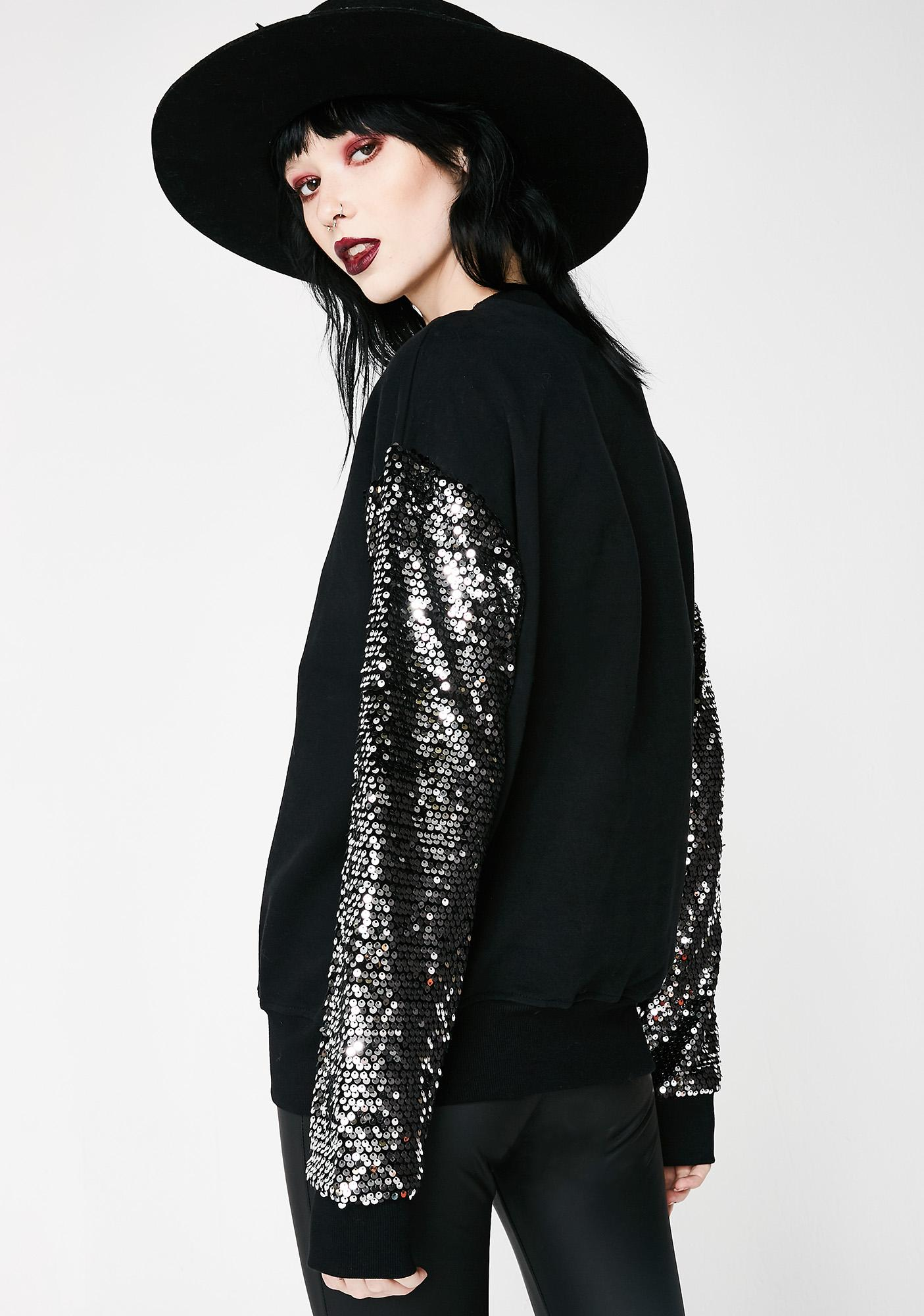 Award Winner Sequin Sweatshirt