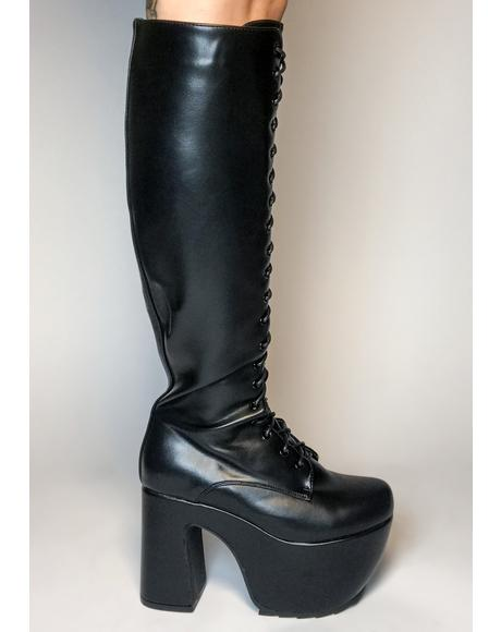 What A Dream Knee High Boots
