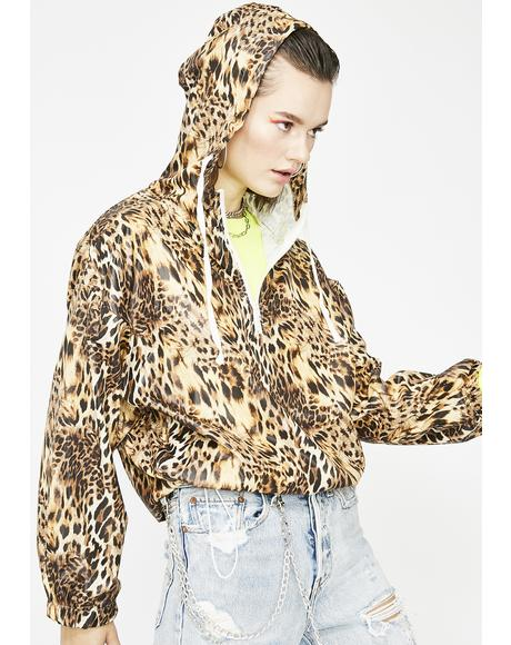 Leopard Fever Zip Windbreaker
