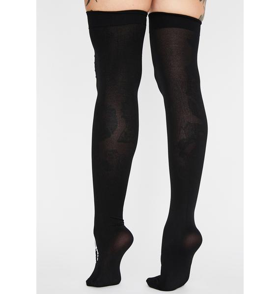 Bonafide Freak Thigh High Socks