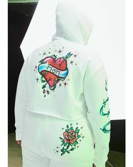 Quick Vibe Check Airbrushed Hoodie