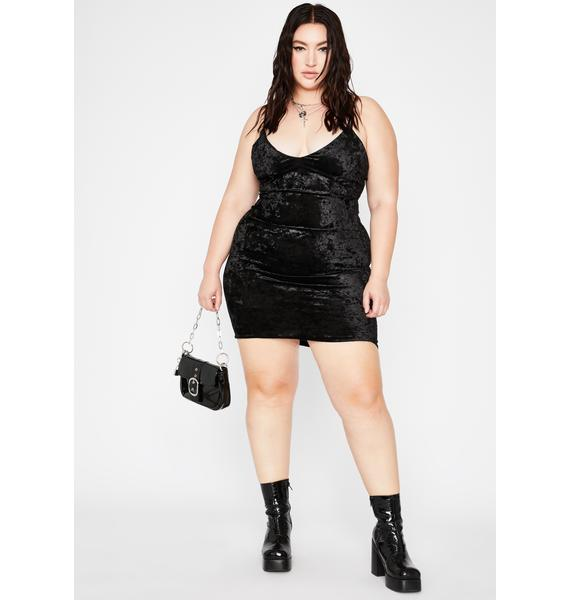 Your Night Seduction Velvet Dress