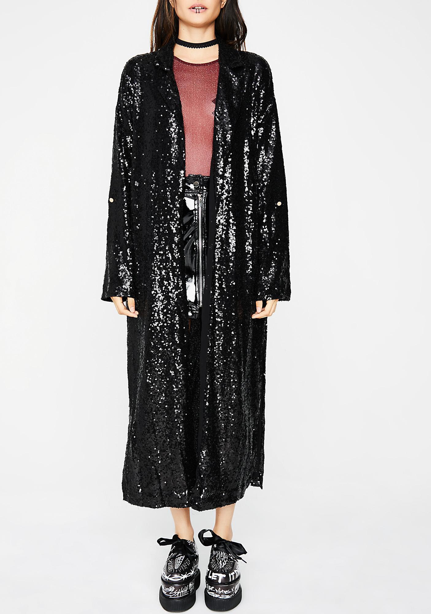 Magic Tricks Sequin Kimono