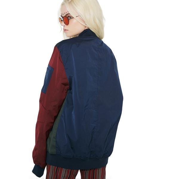 Members Only Color Block Bomber Jacket