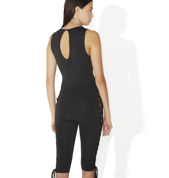 Night Rider Lace-Up Bodysuit