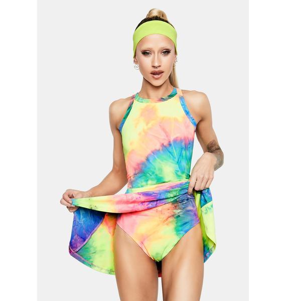 Club Exx Under The Sun Tie Dye Tennis Dress