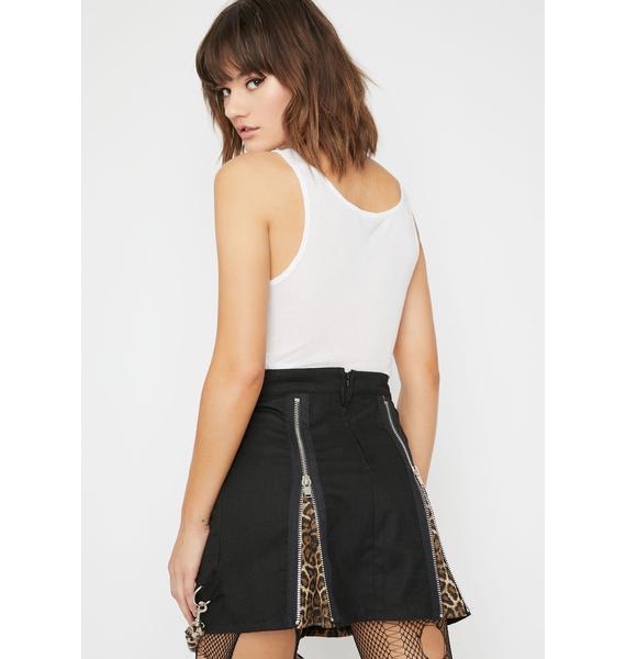 Current Mood Devil Save The Freaks Mini Skirt