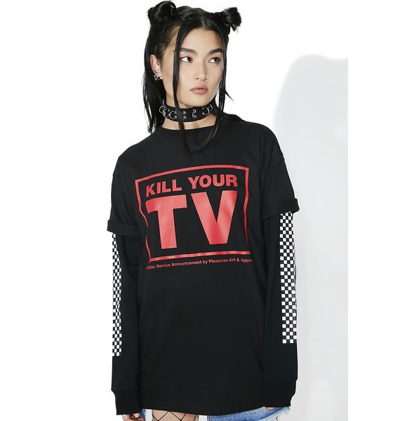Pleasures TV Tee