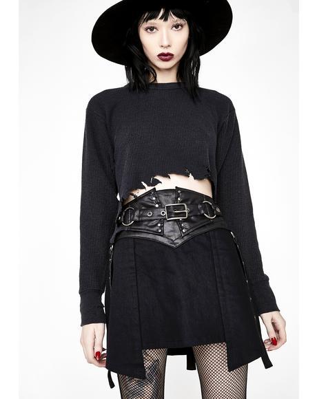 Punk Girdle Half Skirt