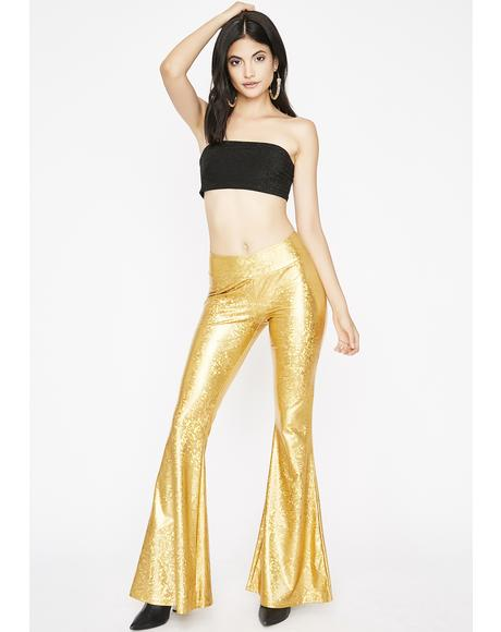 Disco Fever Shimmer Bell Bottoms