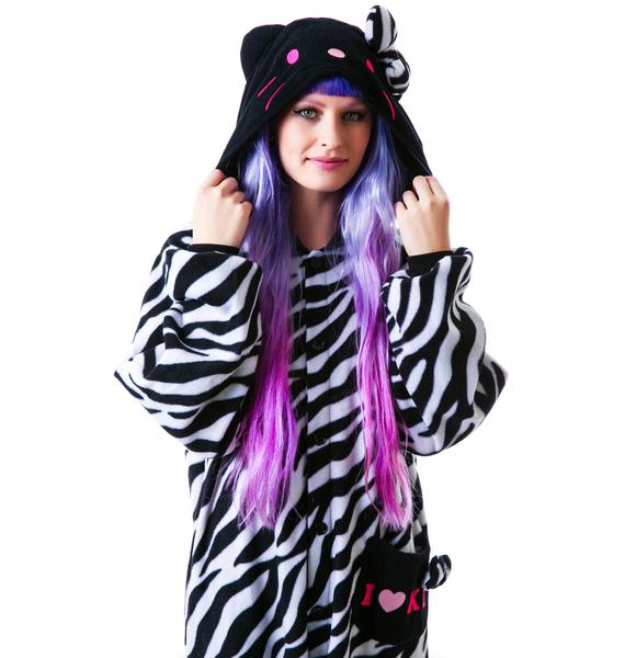 Sazac  Kigurumi Zebra Hello Kitty