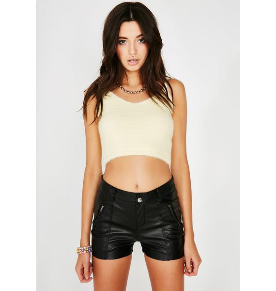 Slow Ride Pleather Shorts