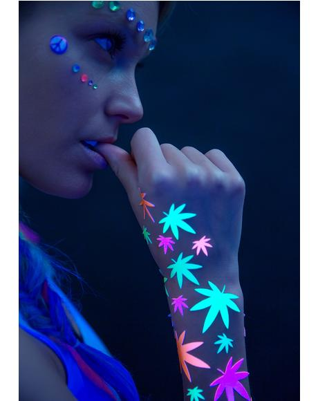 Weed Blacklight Body Stickers