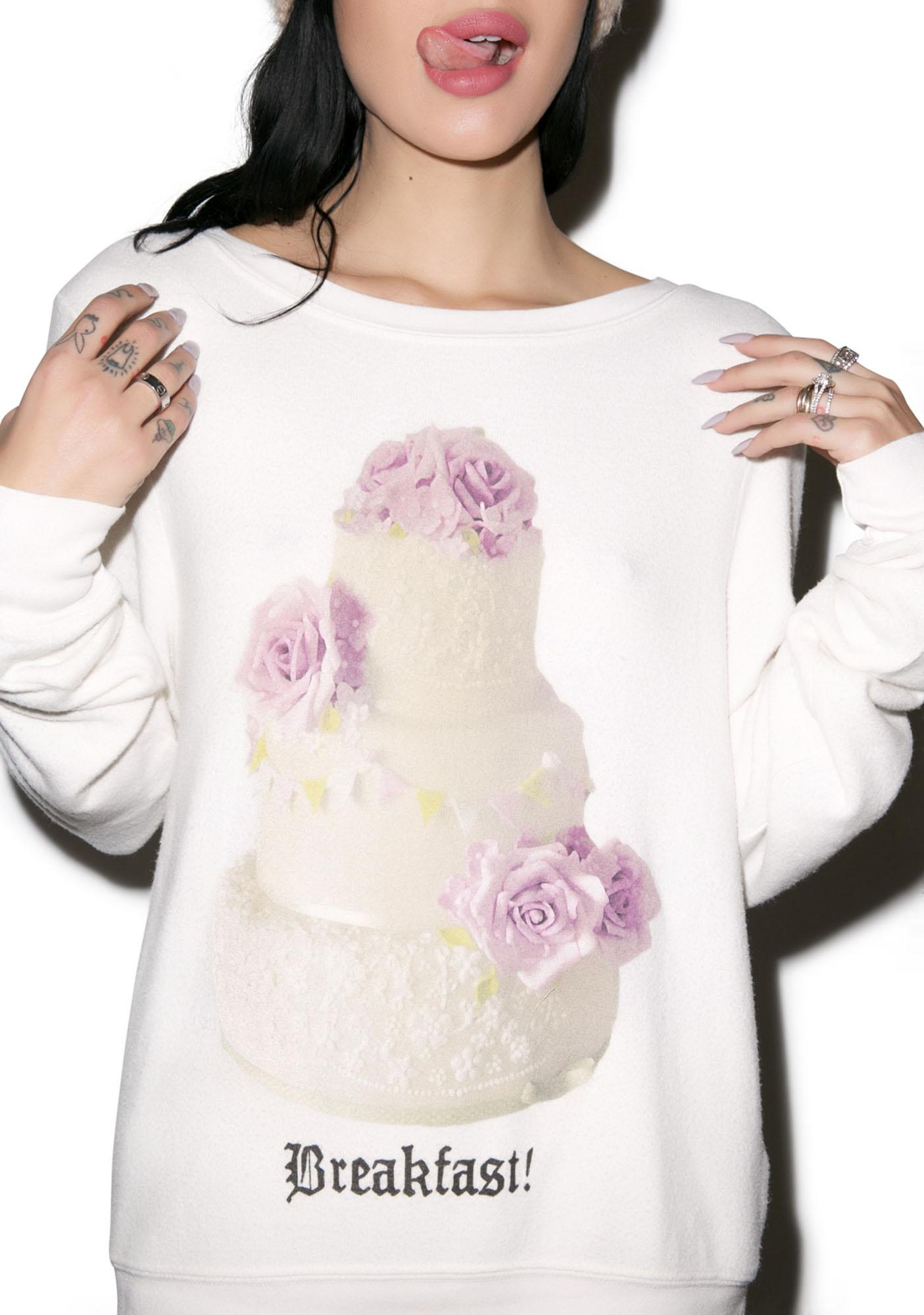 Wildfox Couture Breakfast! Baggy Beach Jumper