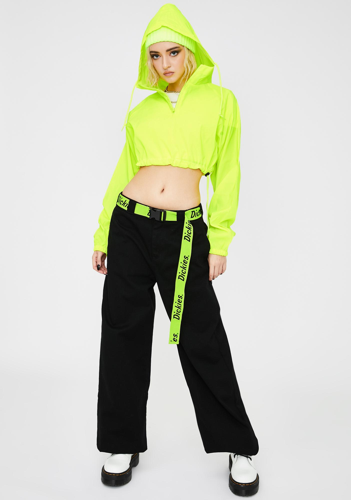 Dickies Girl Wide Leg Belted Worker Pants